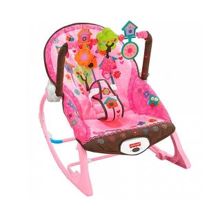 Ghế rung Fisher Price X7032 Infant to Toddler Rocker Pink Owls
